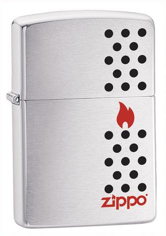 Зажигалка Zippo  (200 Chimney) Chimney с покрытием Brushed Chrome латунь/сталь серебристая матовая