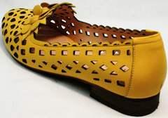 Красивые босоножки на невысоком каблуке женские Phany 103-28 Yellow.