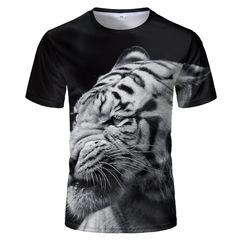 Футболка 3D принт, Тигр (3Д Tiger) 02
