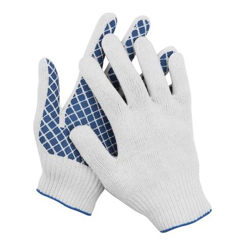 DEXX перчатки рабочие, 10 пар в упаковке, х/б 7 класс, с обливной ладонью.
