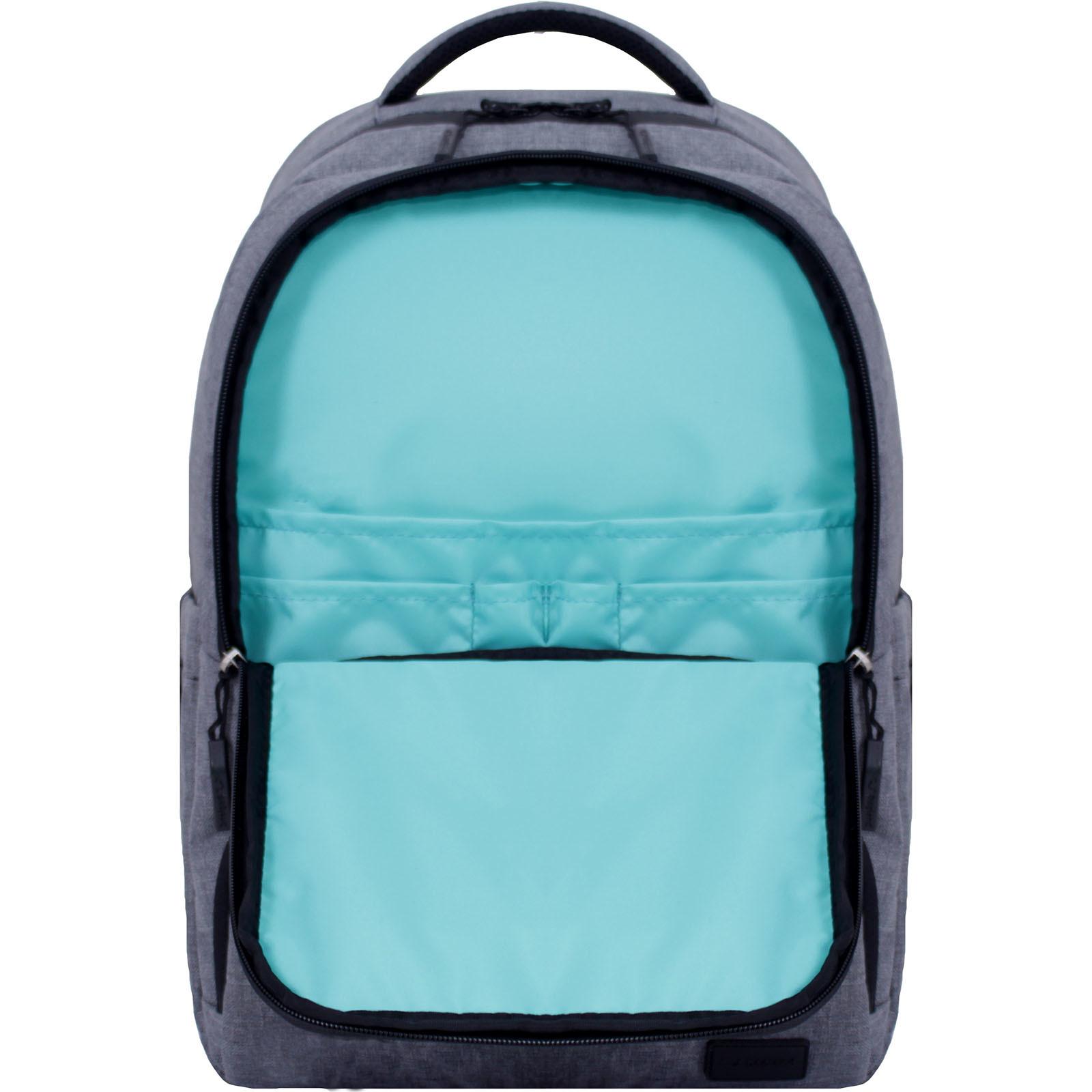 Рюкзак школьный Bagland STARK серый (0014366) фото 4