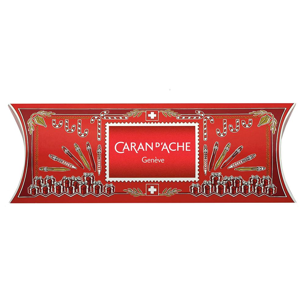 Carandache Office 849 Classic Seasons Greetings - Red, перьевая ручка, EF, подарочная упаковка
