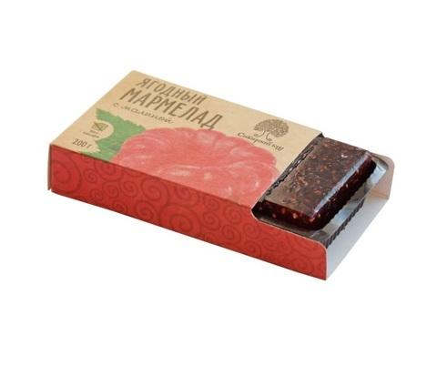 Мармелад ягодный с малиной / брикет / 200 г