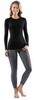 Картинка кофта Norveg Soft Sleeve W woolmark черный - 2