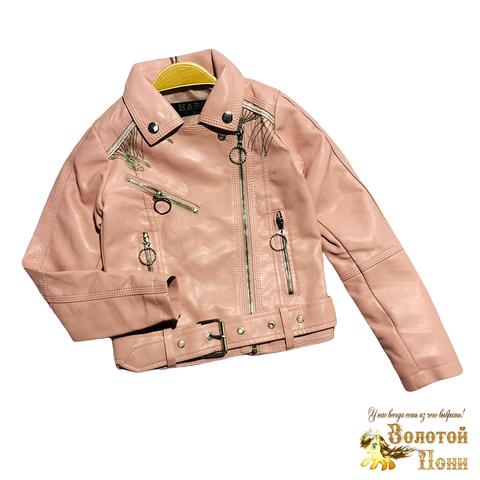 Куртка эко-кожа девочке (5-10) 210130-К2058