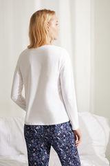 Бавовняна футболка з довгими рукавами білого кольору