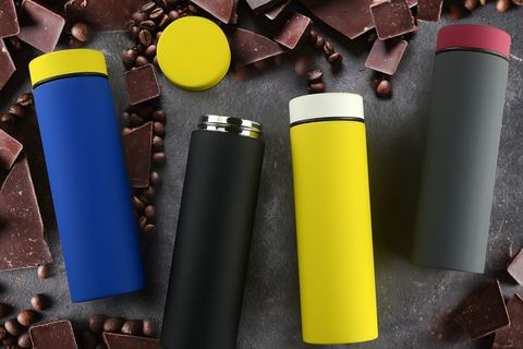 Термос Asobu Le Baton Travel (0,5 литра), желтый/белый