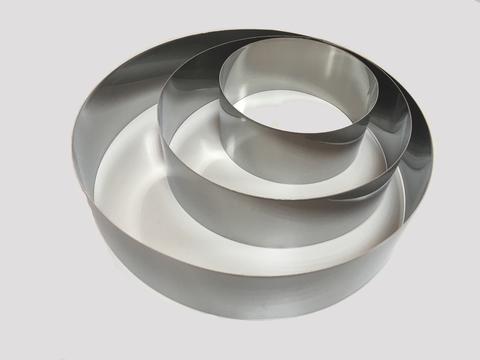 Набор колец для выкладки, выпекания, 3шт (D= 10/15/20 H4,5 см)