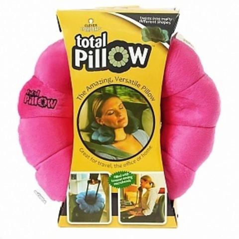 Подушка трансформер для путешествий Total Pillow Тотал-пиллоу розовая