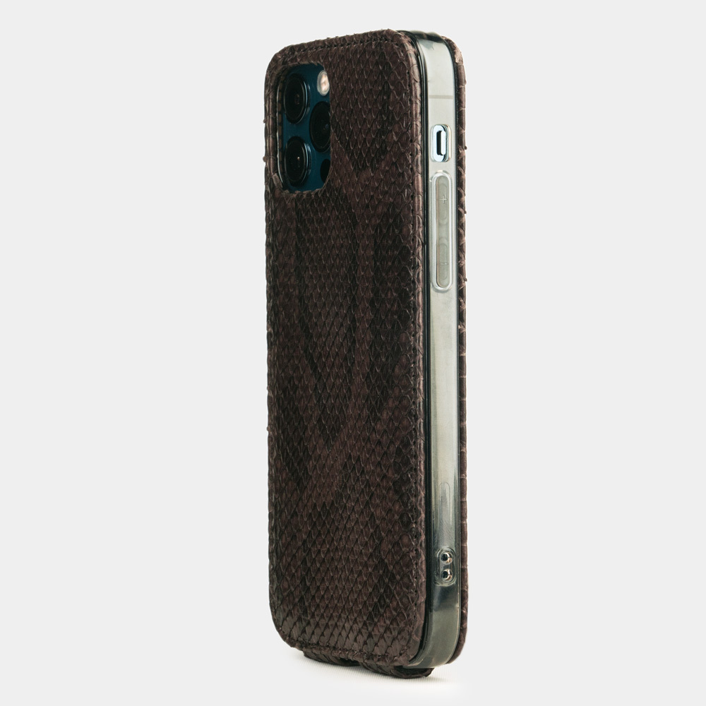 Case for iPhone 12 & 12 Pro - python brown
