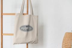 Сумка-шоппер с принтом Bugatti (Бугатти) бежевая 008
