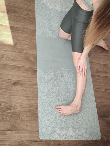 Коврик для йоги Bali Green 183*61*0,1-0,3 см из микрофибры и каучука