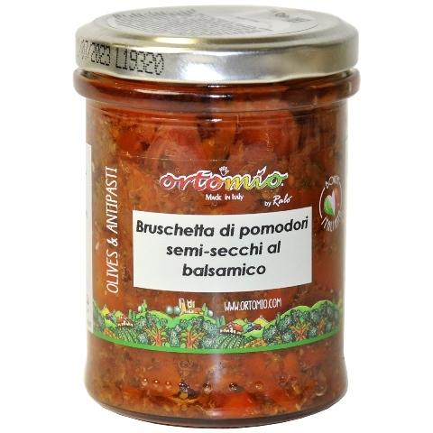 Соус Брускетта  из полусушёных помидоров с бальзамическим уксусом 180 г Ortomio