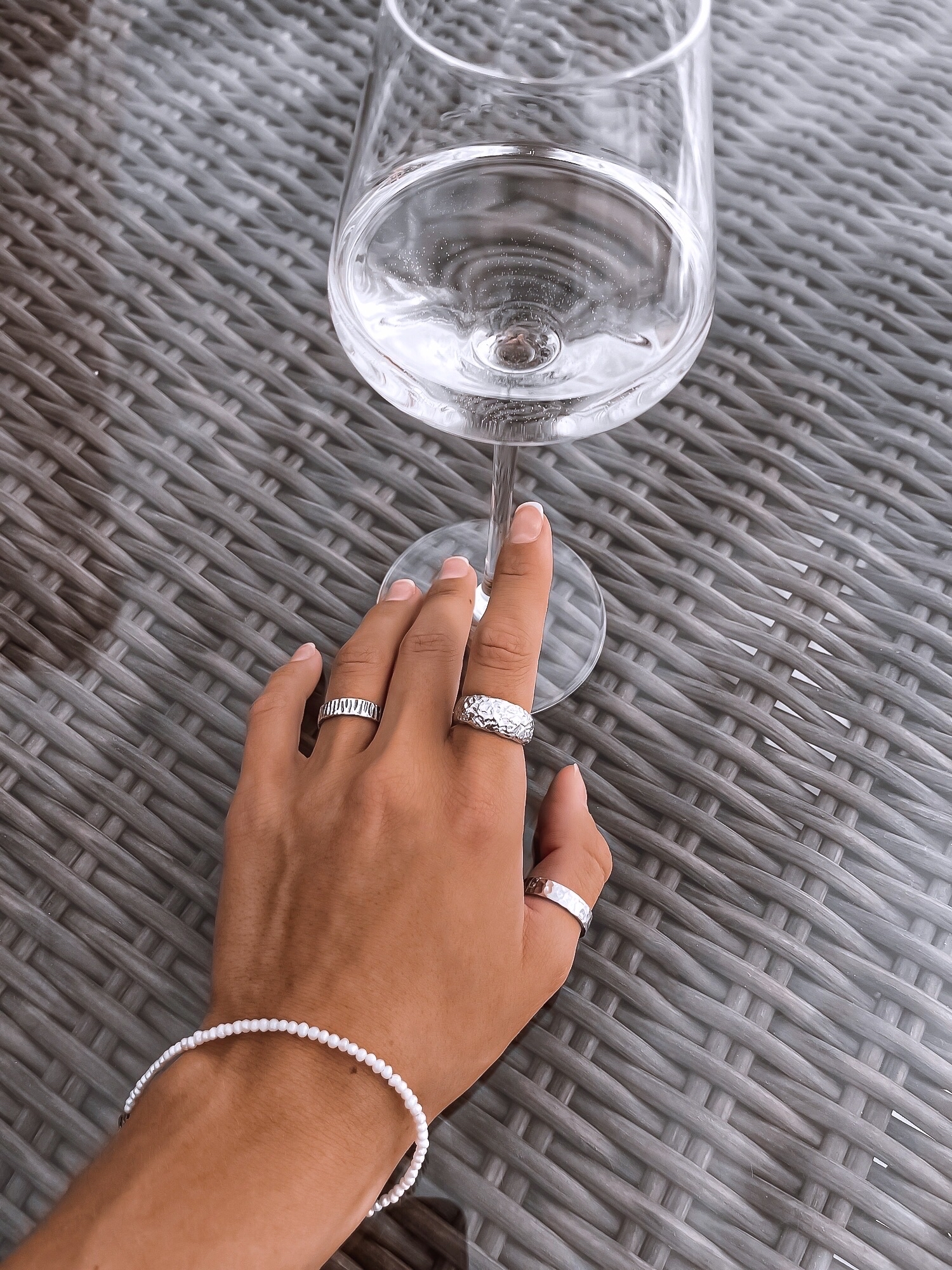 Серебряное дутое кольцо