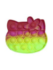 Поп Ит Игрушка антистресс Вечная пупырка Попит 11 х 10 см розово-желтая Кити POP IT