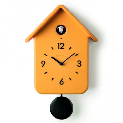 Часы с кукушкой QQ жёлтые