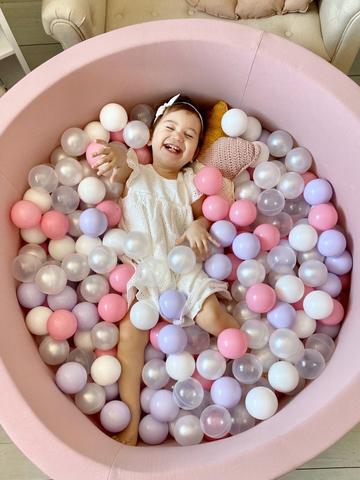 Сухой бассейн Anlipool  100/40см Пудра комплект №1 300 шаров Panna cotta