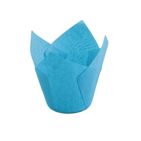 Форма бумажная Тюльпан Голубая, 50х80мм. (20шт)