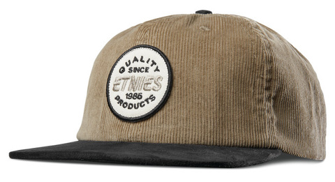 Кепка ETNIES Patched Snapback - black/tan