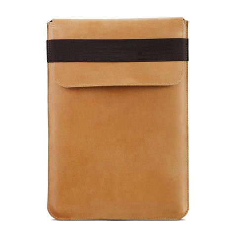 Винтажный вертикальный кожаный чехол Gmakin для MacBook