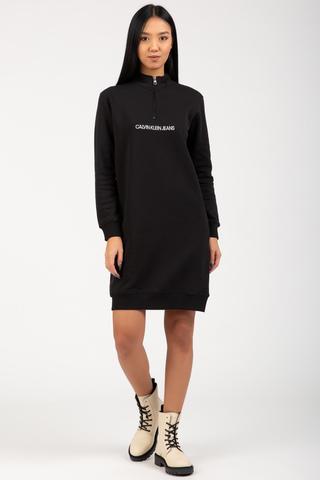 Платье VERTICAL MONOGRAM HALF ZIP DRESS Calvin Klein Jeans