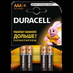Батарейки Duracell ААA 4шт