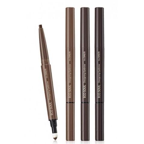 Карандаш для бровей 3 в 1 Eco Soul Designing Eyebrow 01 Brown 0,2 гр + 0,12 гр