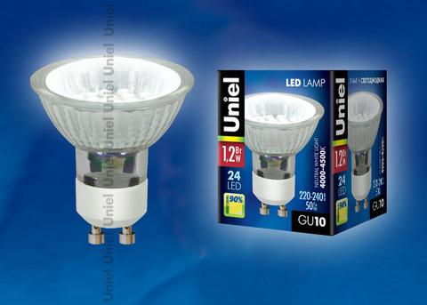 LED-JCDR-SMD-1,2W/NW/GU10 75 Lm Светодиодная лампа. Картонная упаковка.