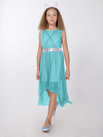 Удлиненное нарядное платье (арт.29031)