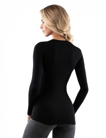 Картинка кофта Norveg Soft Sleeve W woolmark черный - 4
