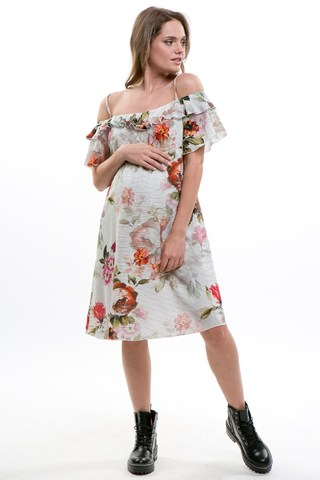 Платье для беременных 08726 кремовый