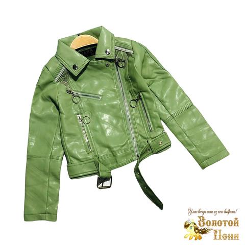 Куртка эко-кожа девочке (5-10) 210130-К2059