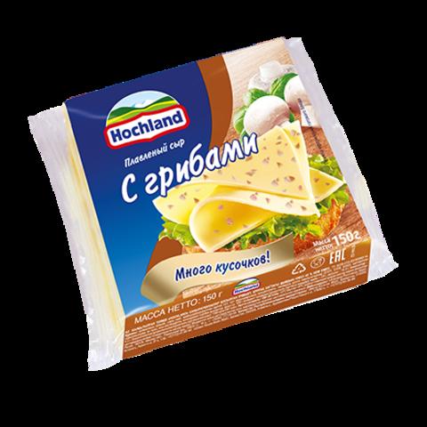 """Сыр плавленный """"Hochland"""" с грибами, 150 г"""