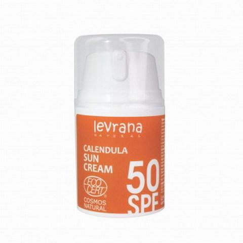 Солнцезащитный крем для тела Календула, SPF50, Levrana