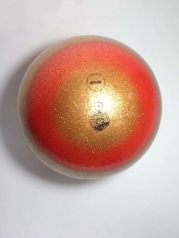 Мяч AMAYA 18,5 см радужный с блестками для художественной гимнастики