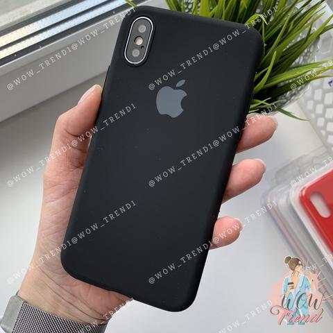 Чехол iPhone X/XS Silicone Slim Case /black/