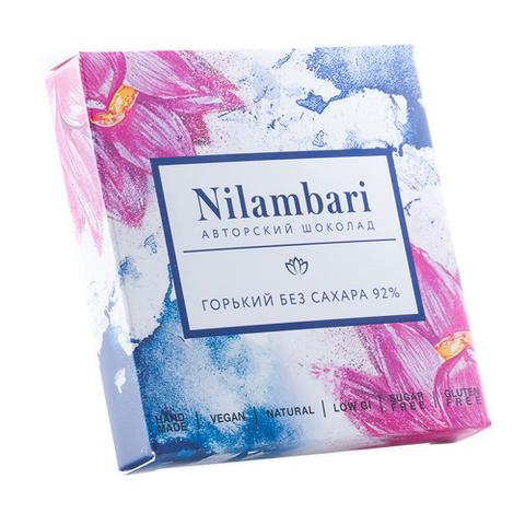 Nilambari шоколад горький без сахара 92%