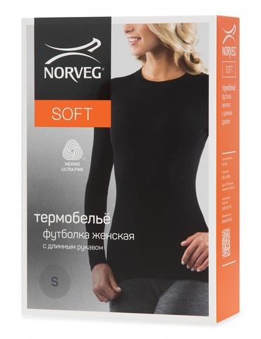 Картинка кофта Norveg Soft Sleeve W woolmark черный - 5