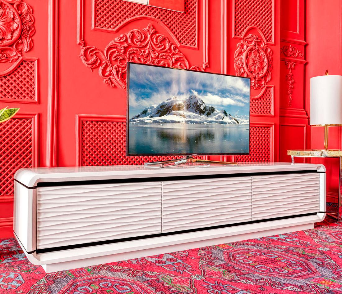 Тумбы и комоды Тумба под телевизор 3D Modo (Белый глянец) 3d-modo-1.jpg