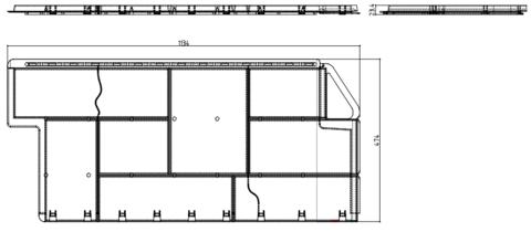 Фасадная панель Альта Профиль Гранит Саянский 1130х470 мм