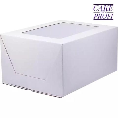 Коробка для торта бол.окно 30×40×20см ( гофрокартон)
