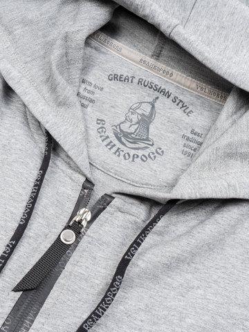 "Grey melange zip hoodie ""VELIKOROSS"""