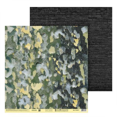 Бумага для скрапбукинга «Природный камуфляж», 30.5 × 32 см, 180 г/м