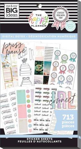 Блокнот со стикерами для ежедневника Create 365 Happy Planner Sticker Value Pack-BIG - Digital detox, 713 шт
