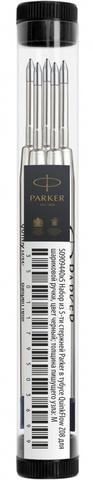 Набор их 5-ти стержней Parker в тубусе QuinkFlow Z08, черные