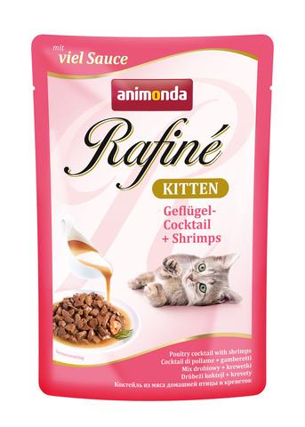 Animonda Rafine Kitten Poultry Cocktail с мясом домашней птицы и креветками для котят