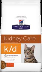 Ветеринарный корм для кошек Hill`s Prescription Diet k/d Kidney Care, при заболеваниях почек, с курицей