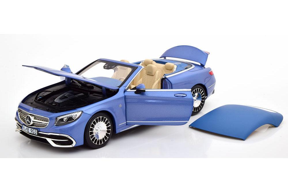 Коллекционная модель MERCEDES-BENZ MAYBACH S650 CABRIO 2019 LIGHT BLUE METALLIC