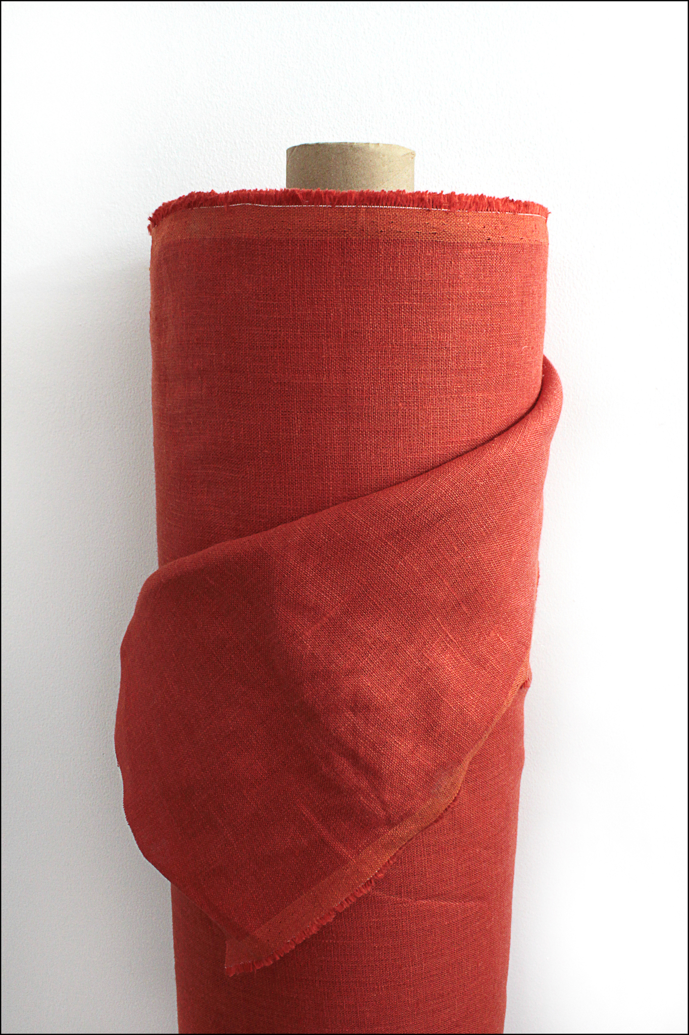 Красный грейпфрут, лен костюмный,умягченный