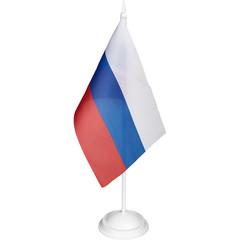 Флаг РФ с белой подставкой 12х18 см